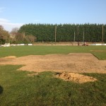 Ground prepared for turfing